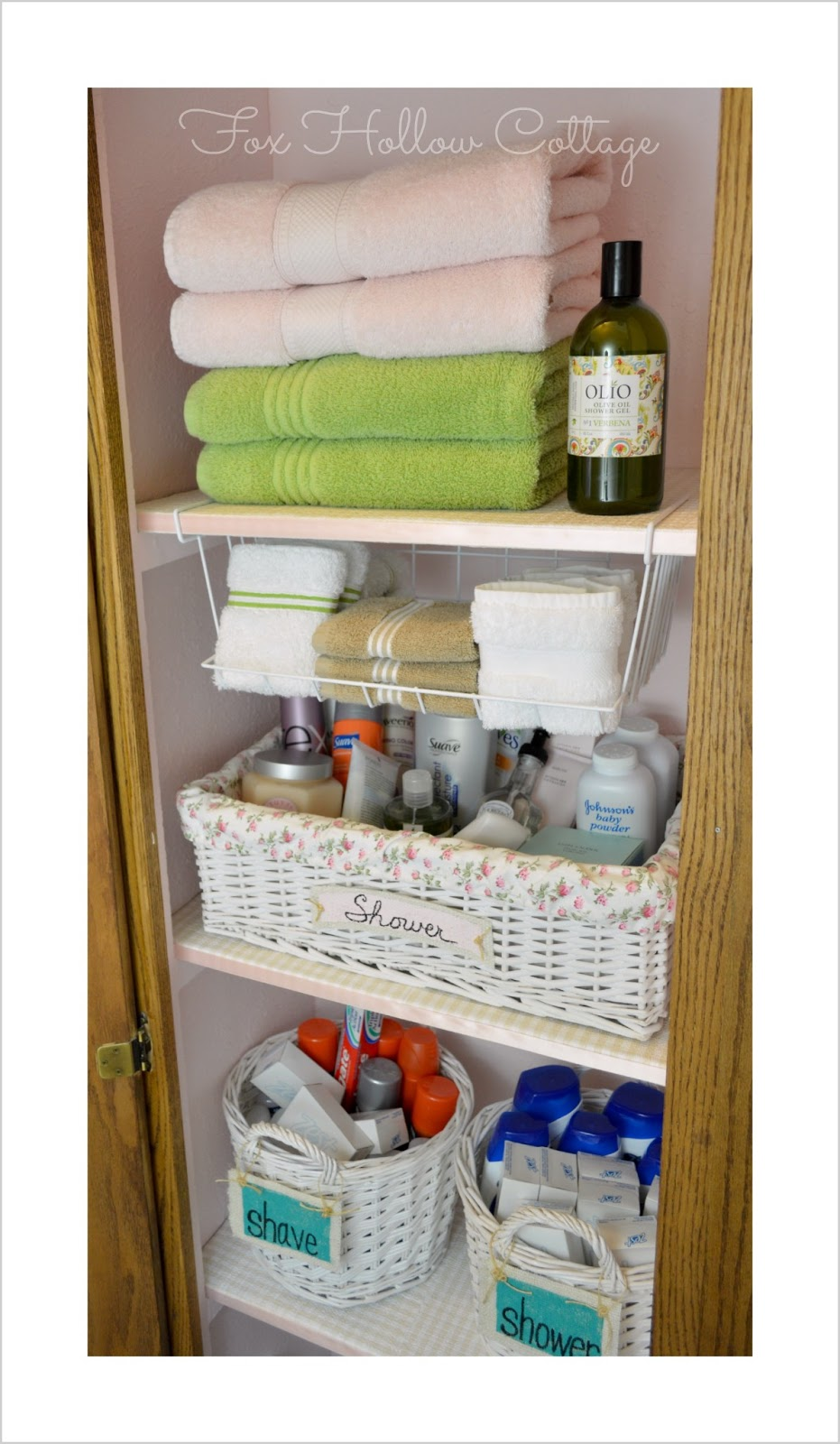 Project Linen Closet Reveal Pretty And Organized Fox Hollow - Bathroom closet organization ideas