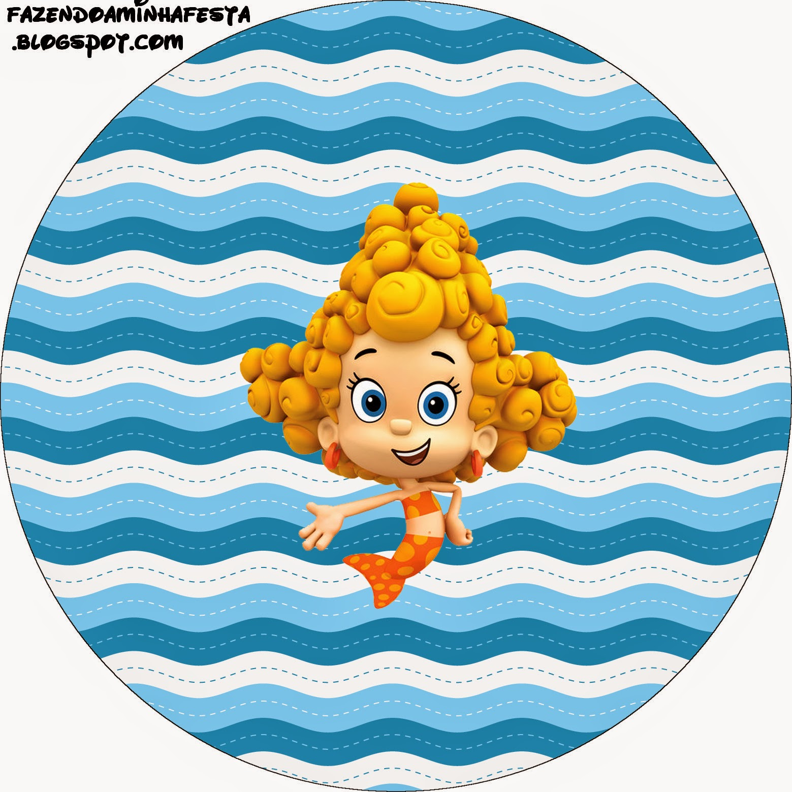 This is a picture of Comprehensive Free Bubble Guppies Printables