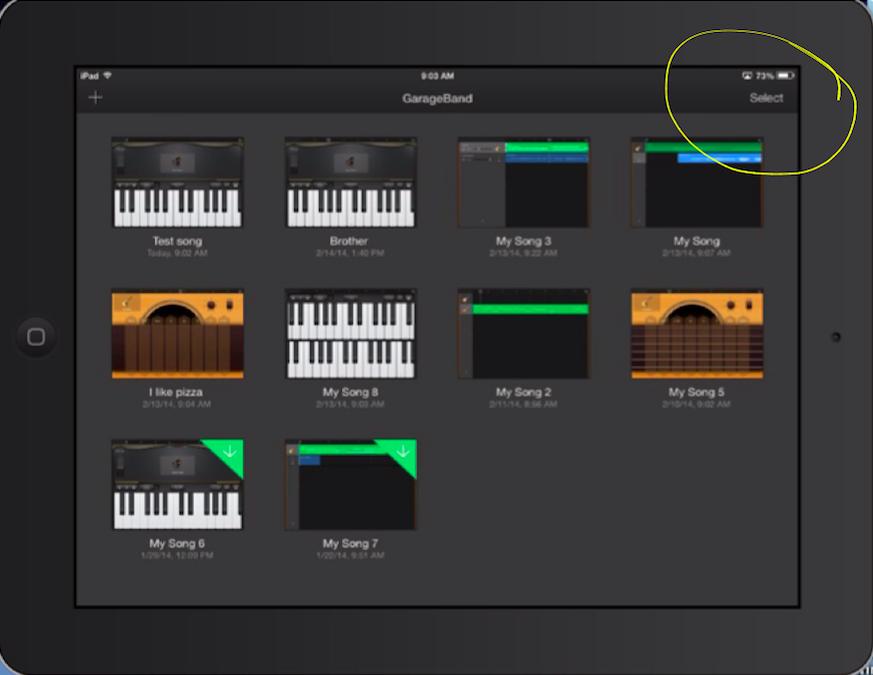 how to add songs created on garageband to imovie
