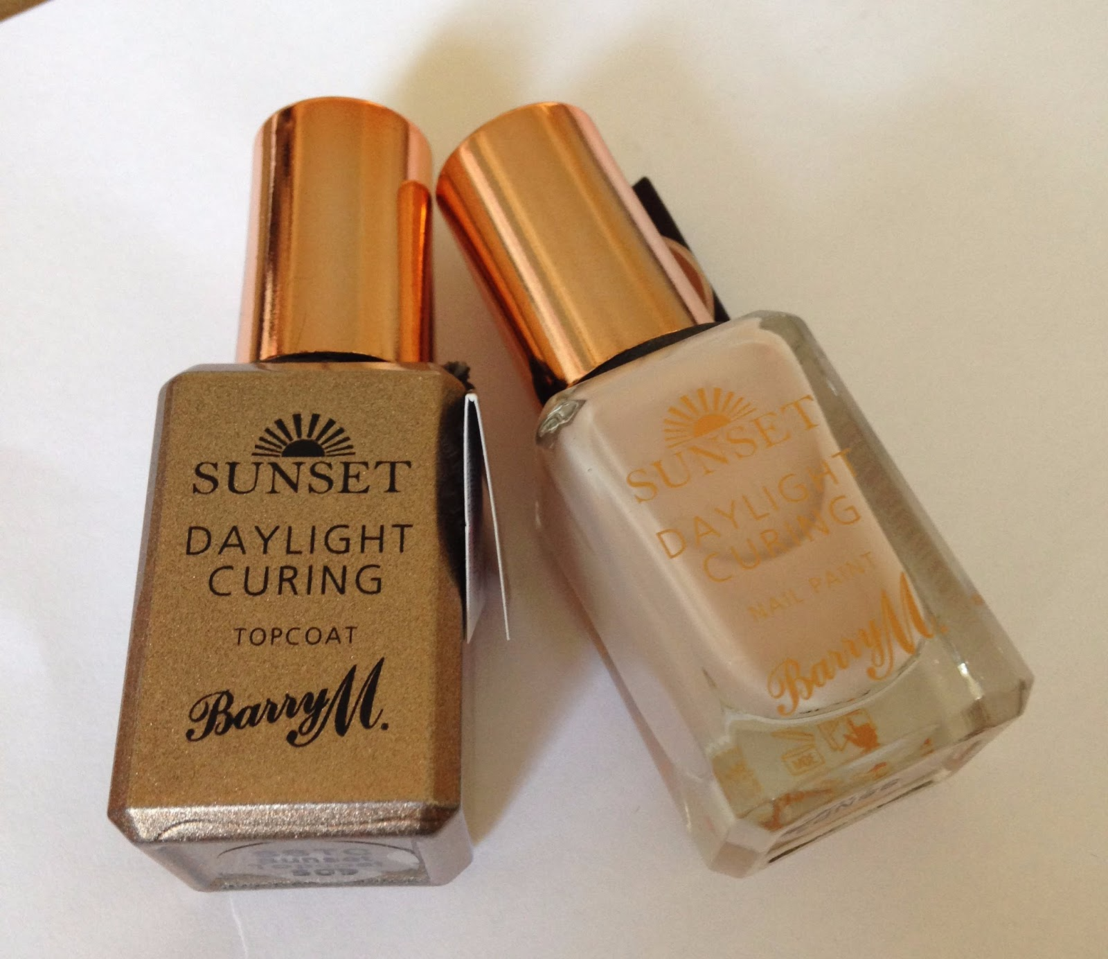 Review - Barry M Sunset Nail Paint & Topcoat.