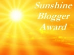 sunshine Blogger Award Thank you Lyn at Spyder's Corner
