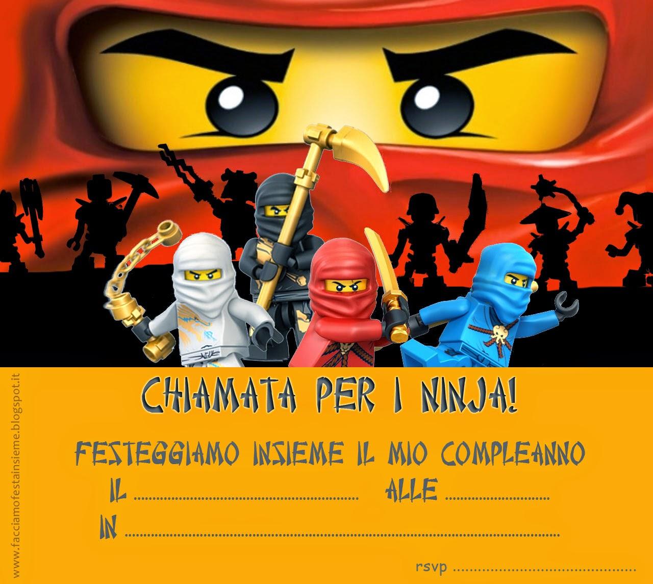 Super Facciamo festa insieme: Lego Ninjago party - Inviti di compleanno  PE45