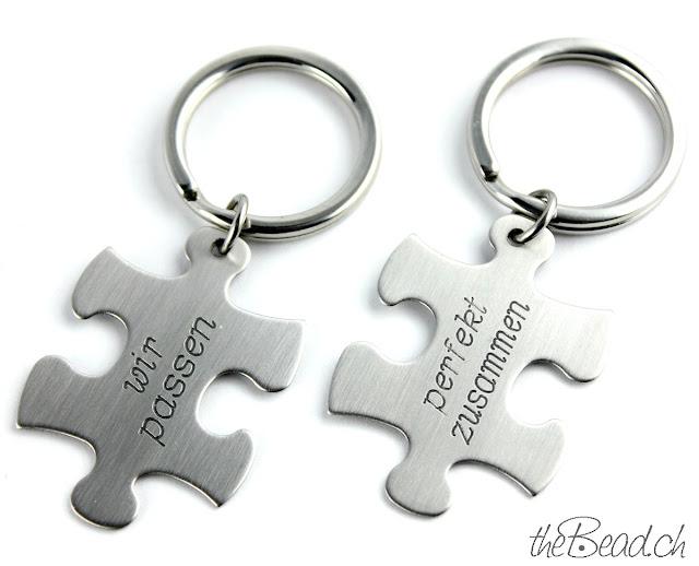 Lässiger Schlüsselanhänger mit Gravur aus Edelstahl