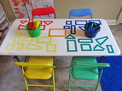 Εξερευνώντας τα χρώματα και τα γεωμετρικά σχήματα