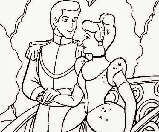 Cuentos infantiles: Dibujos de La Cenicienta para colorear. Cuento ...