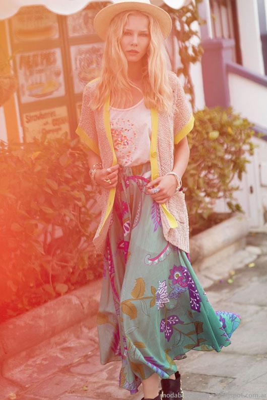 India Style primavera verano 2014 maxifaldas.