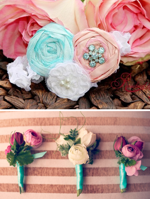 tiffany blue and pink wedding decorations