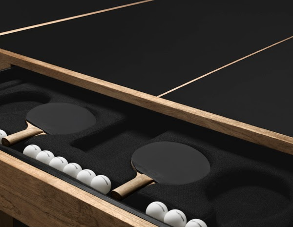 Bon The Limited Edition Table Tennis Table (say That Fast 3 Times!) Is  Hand Crafted From Farmed Solid Teak. It Includes Four Paddles And Four  Ping Pong Balls.