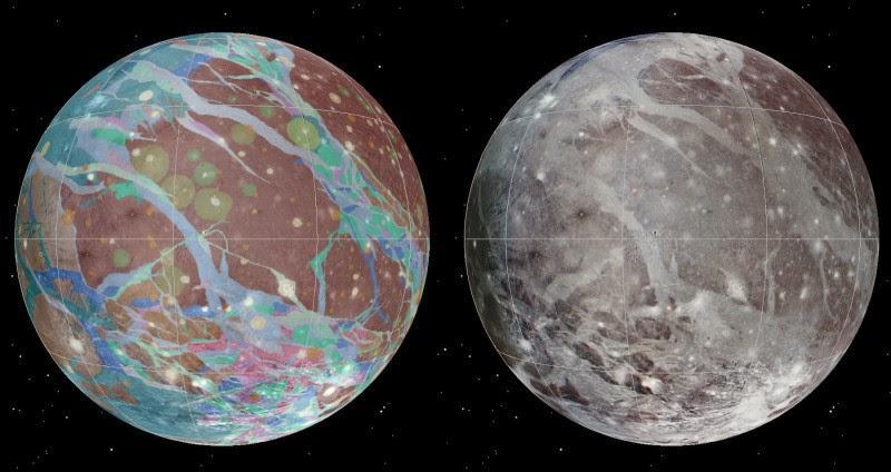 گویا بزرگترین ماه منظومه خورشیدی بزرگترین دهانه برخوردی را هم دارد!