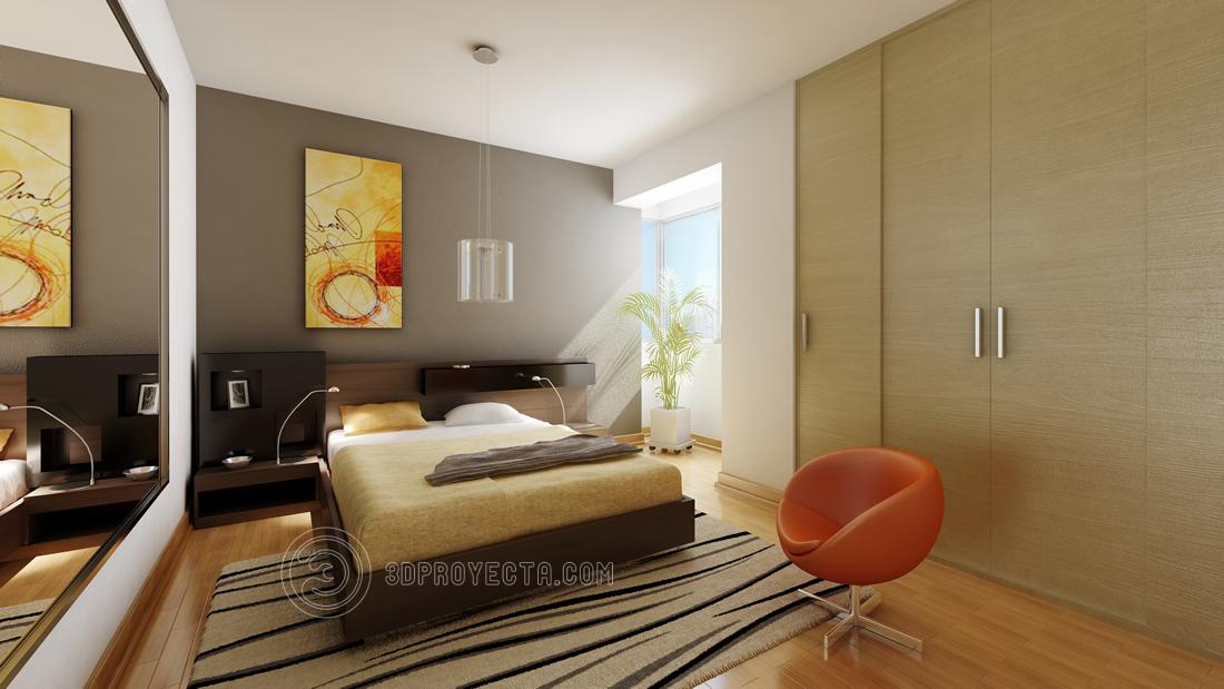 vistas en 3d para recorrido virtual de dormitorio vistas