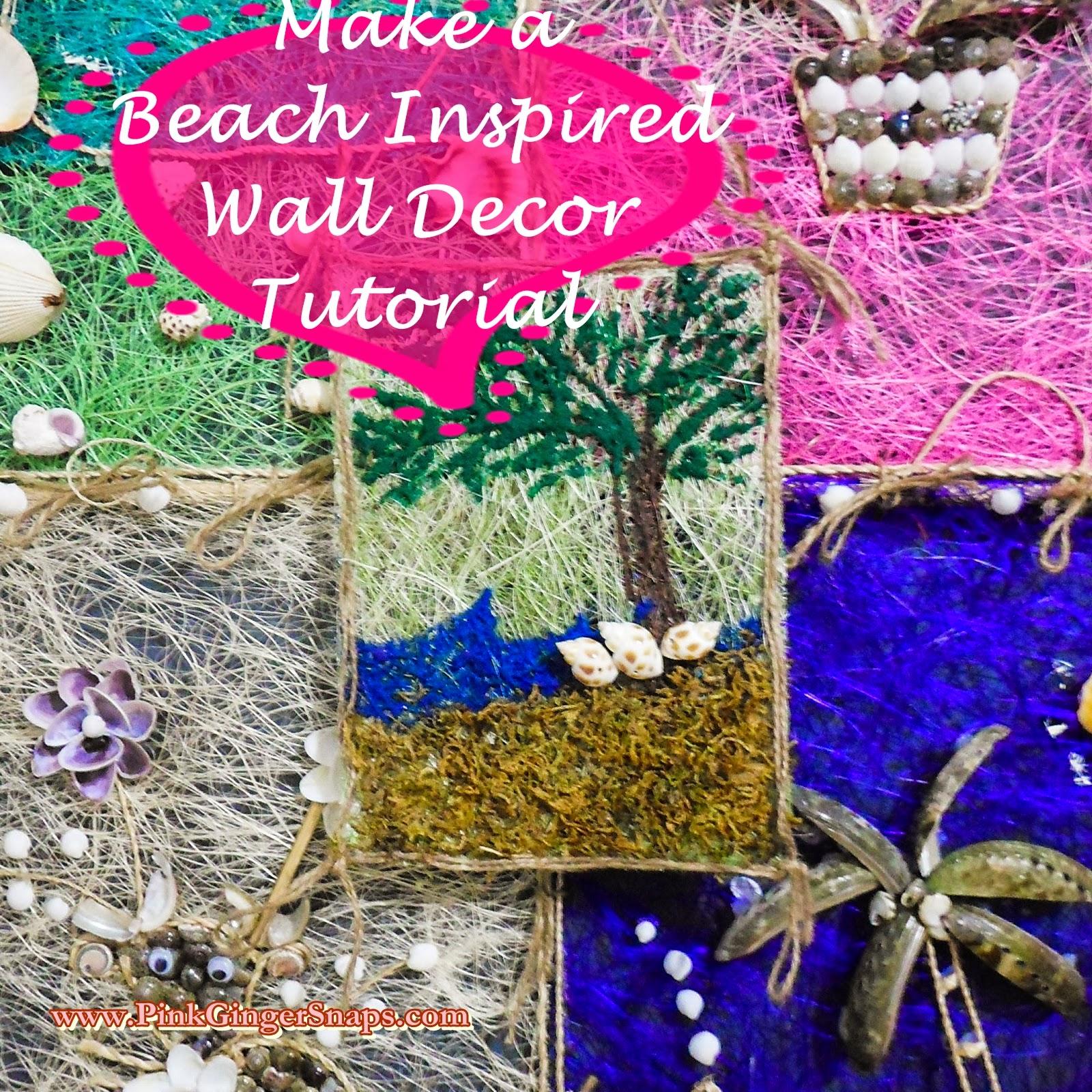 Make a beach inspired wall decor DIY