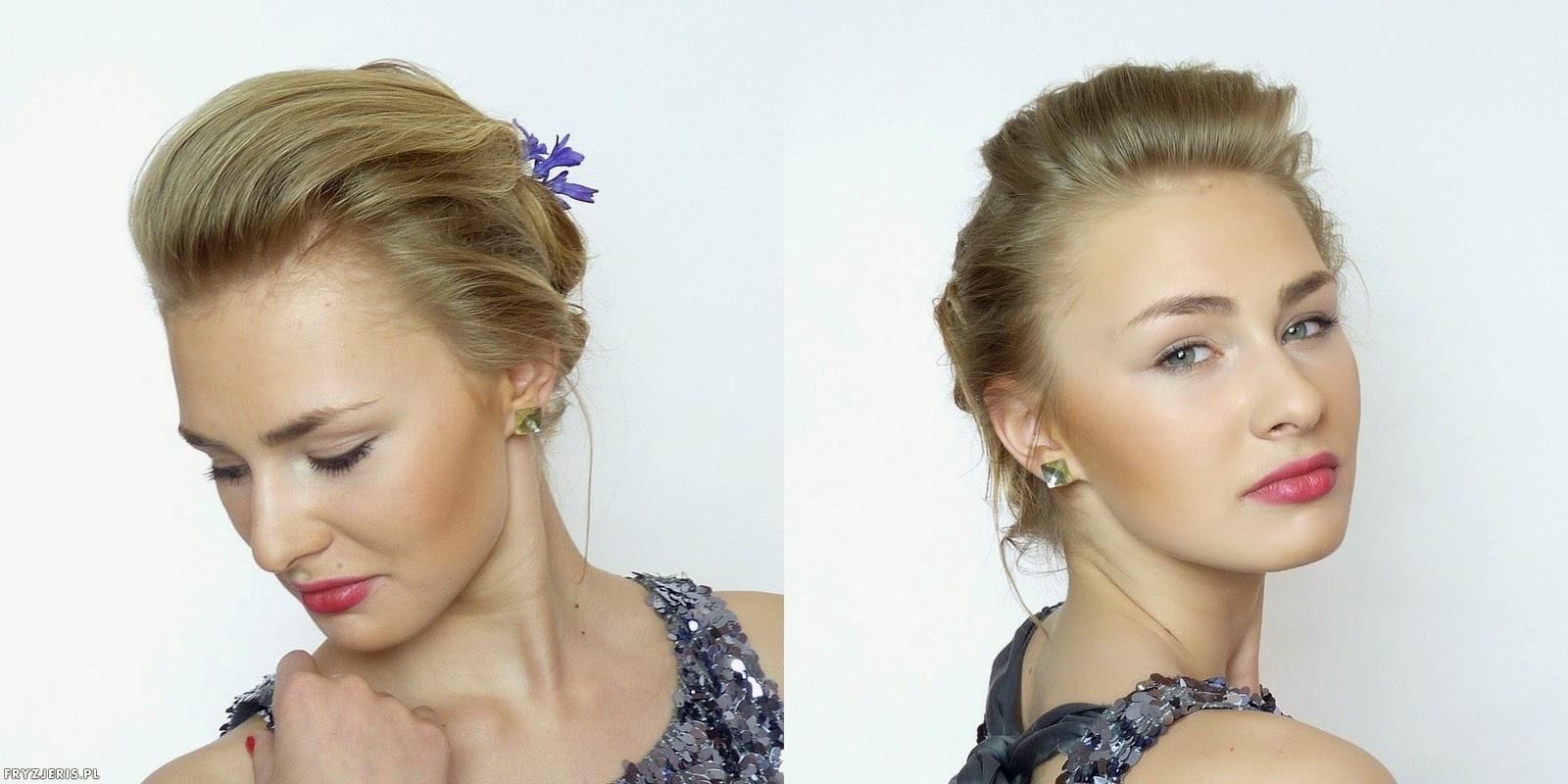 fryzury ślubne - upięcie z kwiatami 5