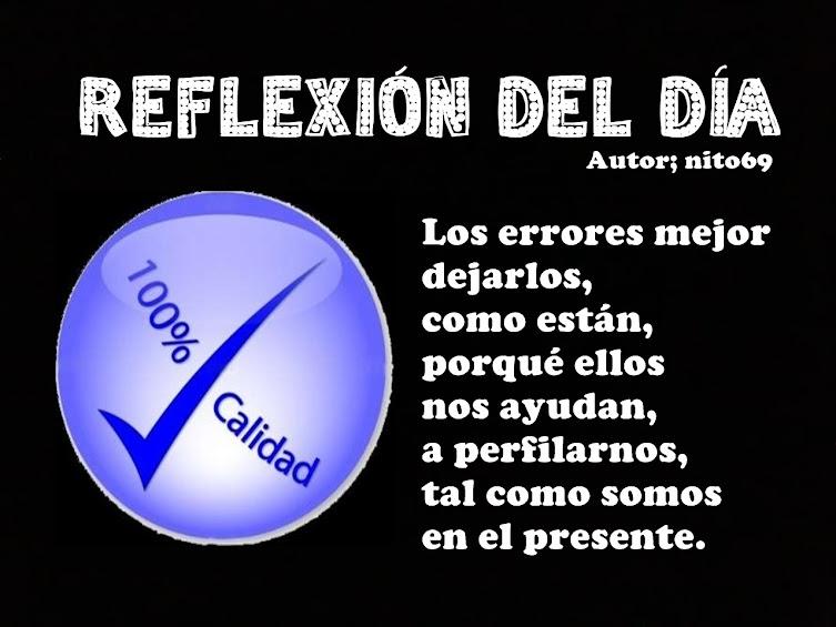REFLEXIÓN DEL DÍA