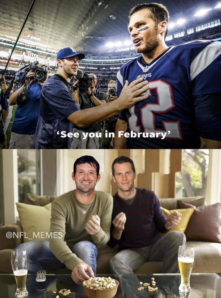 #cowboys #patriots #nfl.-see you in february