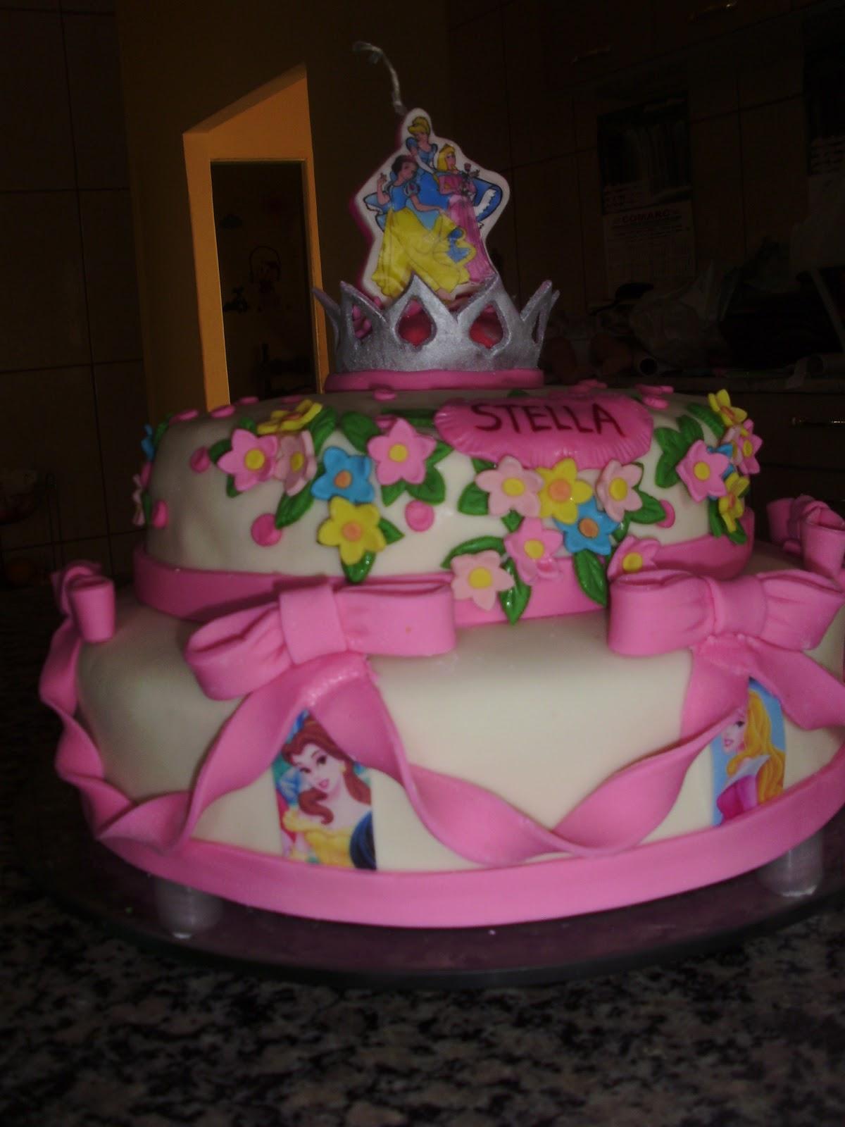 Bolo Das Princesas Pasta Americana Bolo 46