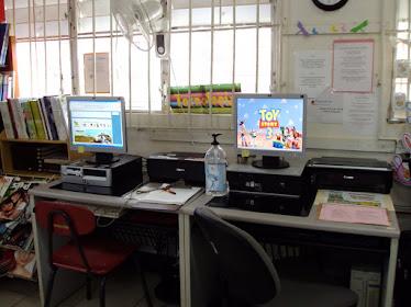 Area de tecnología / La Biblioteca cuenta con 8 computadoras con servicio de Internet