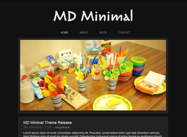 Free Drupal Black Photos Art Theme Template