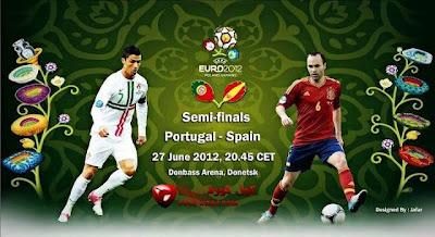 مشاهدة مباراة اسبانيا والبرتغال نصف نهائى 2012 اون لاين اليوم
