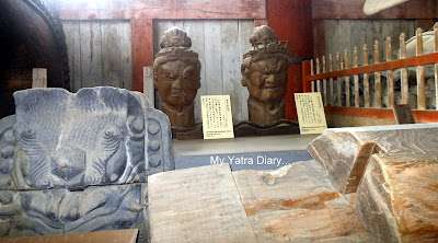 Antique Buddhist images at the Todaiji Temple in Nara, Japan