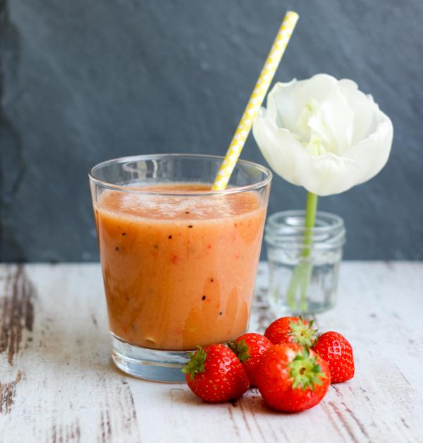 Smoothie, Smoothie-Mittwoch, Erdbeeren, Fleurcoquet