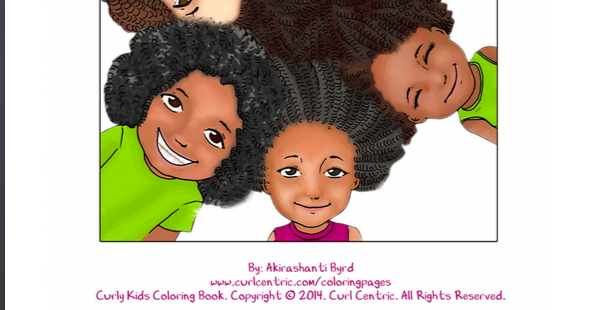 Introducing The Curly Kids Coloring Book