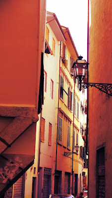 On tiny streets of Florence