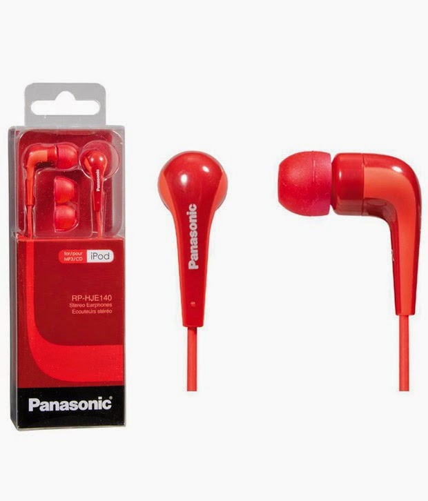 Panasonic RP-HJE140E-G In Ear Earphones (5 color options) for Rs. 380