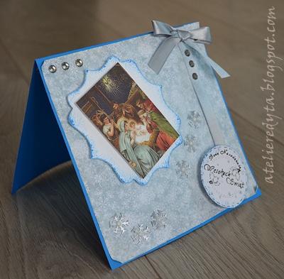 Kartka bożonarodzeniowa ręcznie robiona