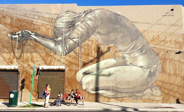 Wynwood street art mural by Fait47, Miami, MBABm Art Basel 2014