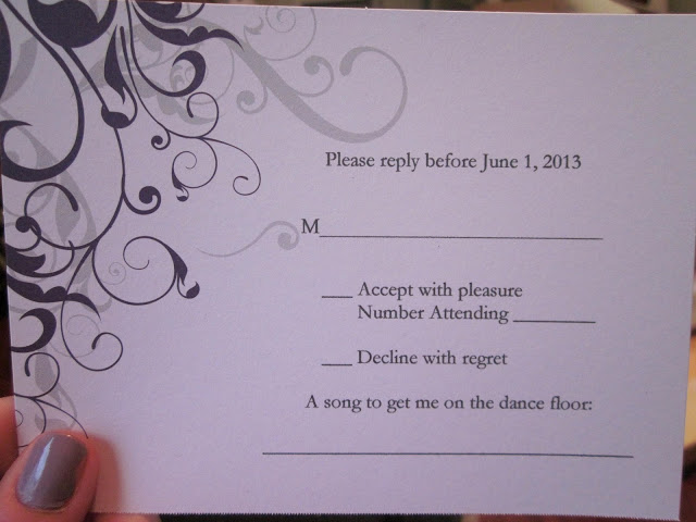 Rsvp Card Song Request