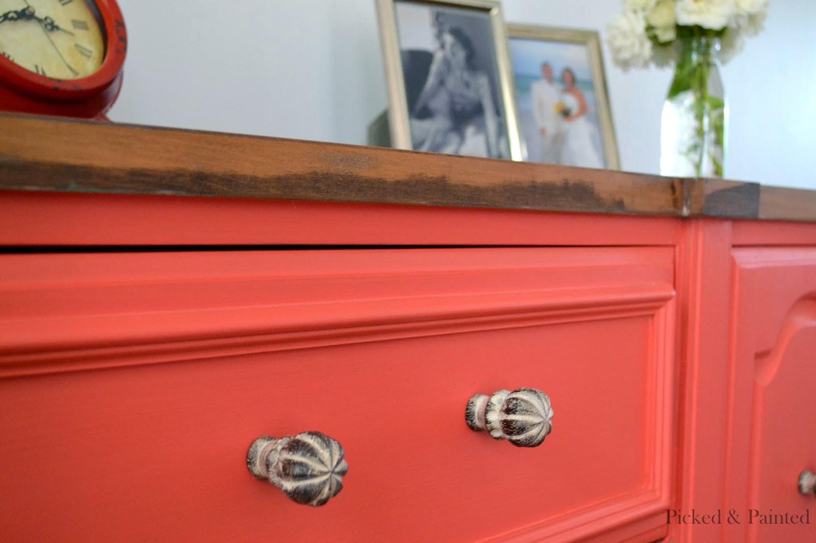 Coral Furniture Paint Helen Nichole Designs 07 2014 08 2014
