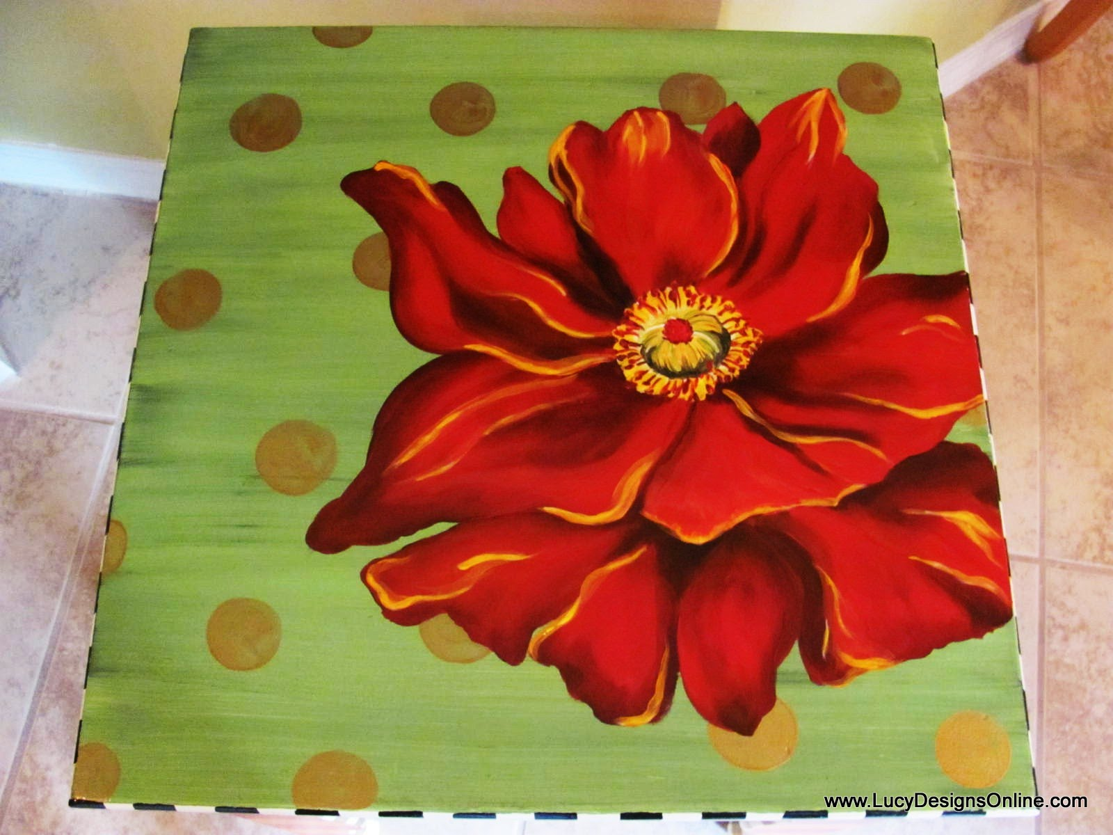 Painted Flower Table