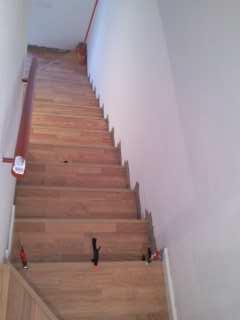 escalera en espartina