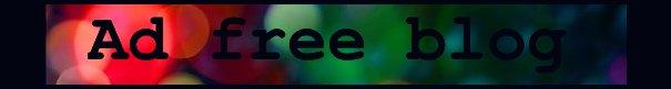 Ad free blog