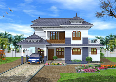 kerala style home exterior design from Green Homes design team