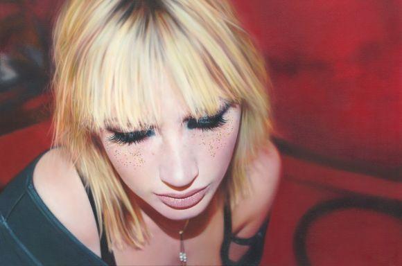 Philip Munoz pinturas hiper-realistas de mulheres