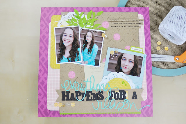 Product Playground: #scrapbooking video class on how to use die cuts and sequins on a scrapbooking layout. http://www.bigpictureclasses.com/classes/product-playground-sequins-die-cuts