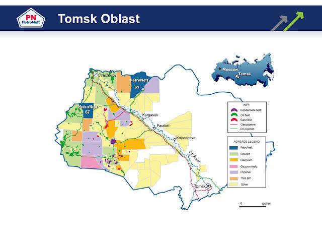 Tomsk Oblast Map