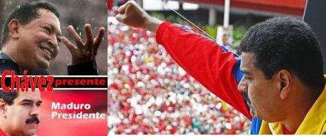 Chávez presente, Maduro Presidente