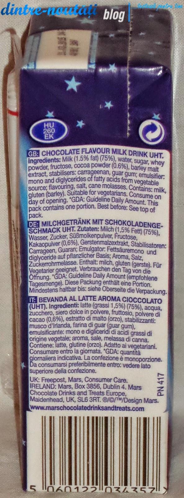 Lapte cu ciocolată MilkyWay
