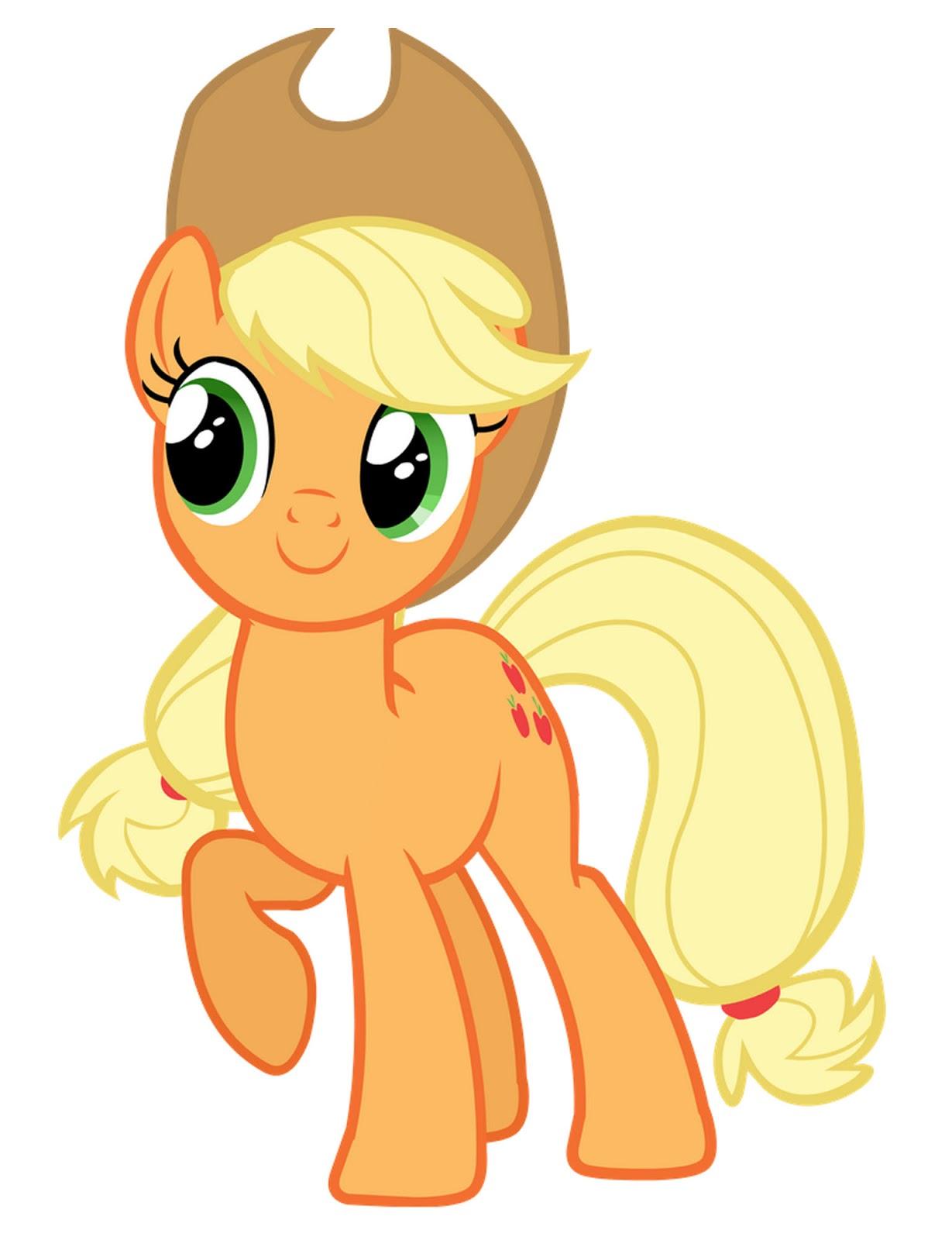 My Little Pony: Dibujos para imprimir y recortar de Applejack