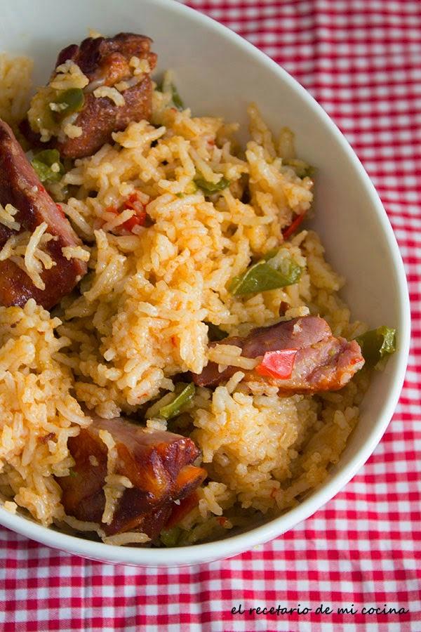 arroz con costilla adobada