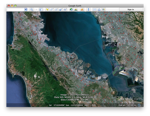 how to search utm in google earth