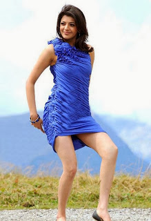 Kajal Agarwal In Blue Dress
