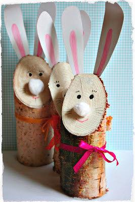 Giocabosco creare con gnomi e fate coniglietto di legno for Bricolage legno