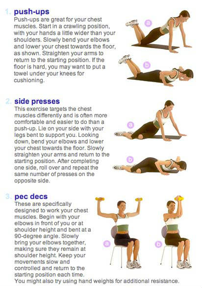 Breast sagging exercises