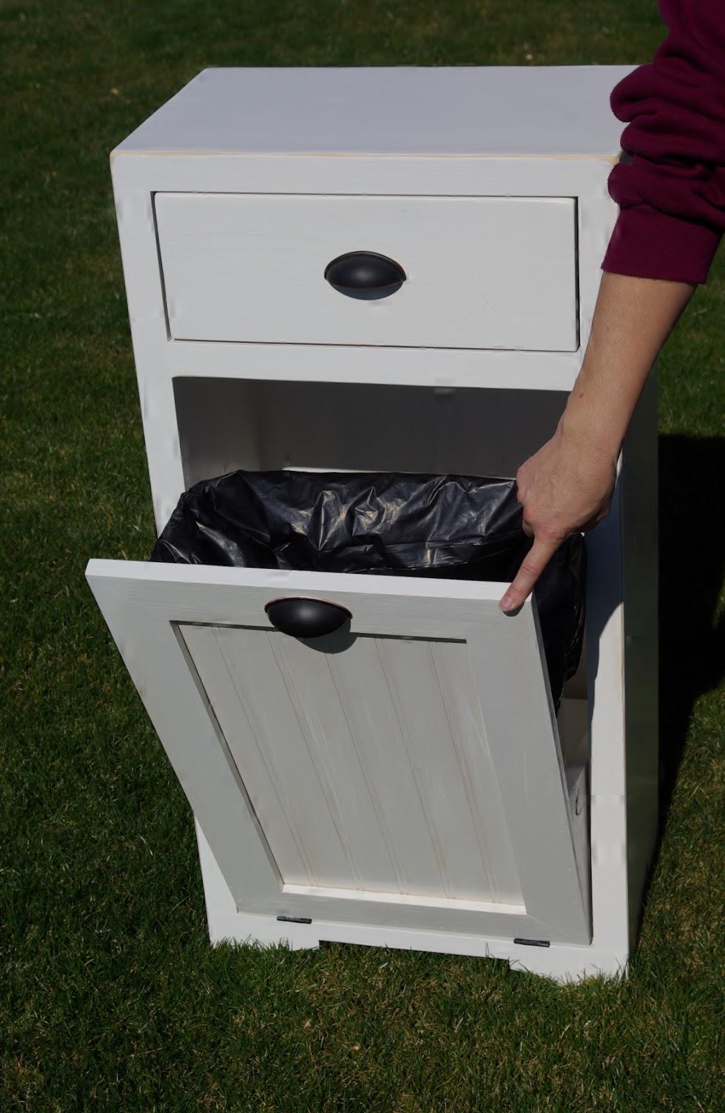 Tilt Out Trash Cabinet
