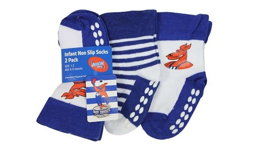 North Melbourne Kangaroos Baby Infant Nonslip Socks