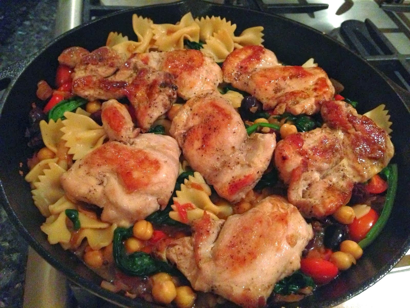 Mediterranean Chicken Thighs Recipe — Dishmaps