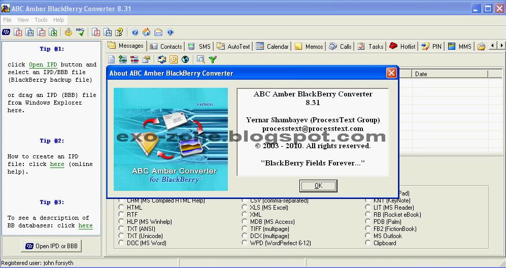 ABC Amber Blackberry Converter 8.31 Full Version